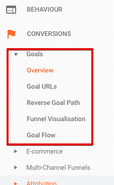access google analytics goal reports