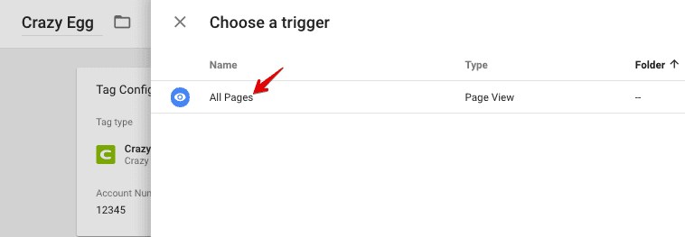 select all pages trigger