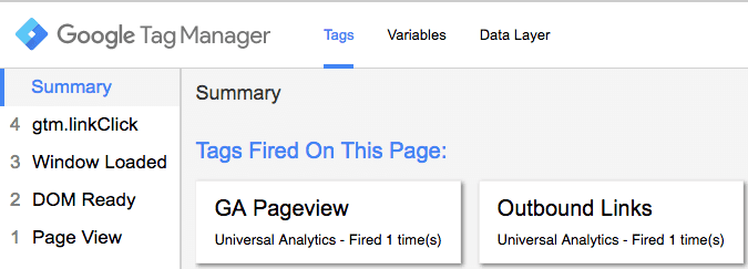 tag manager preview mode