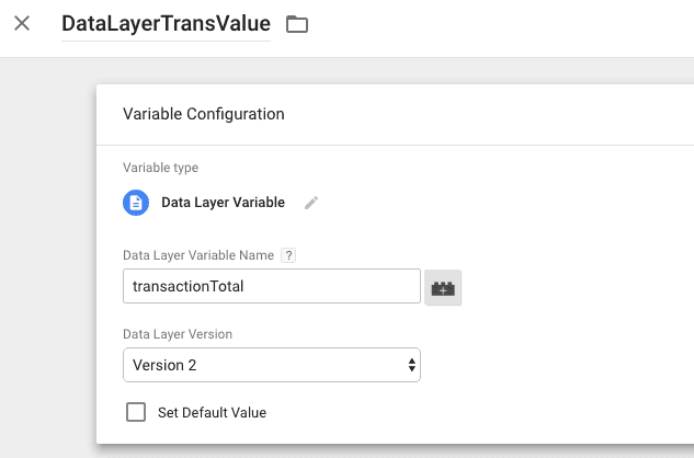 create datalayer variable