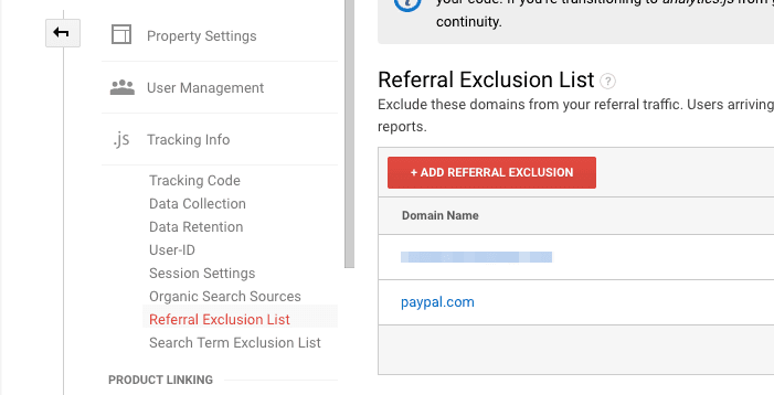 referral exclusion list