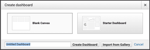 create custom dashboards