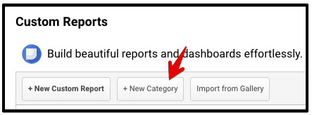 create category custom reports