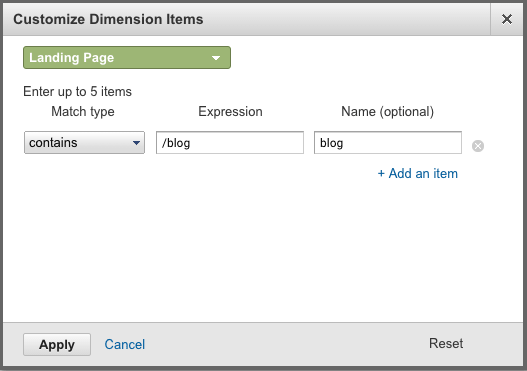 customize dimension behavior flow