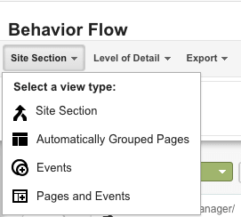 viewing behavior flow reports