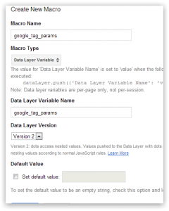 Datalayer variable name