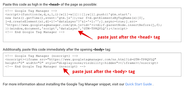 tag manager container scripts